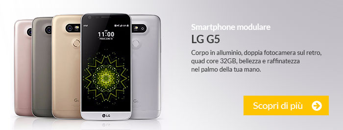Smartphone modulare LG G5